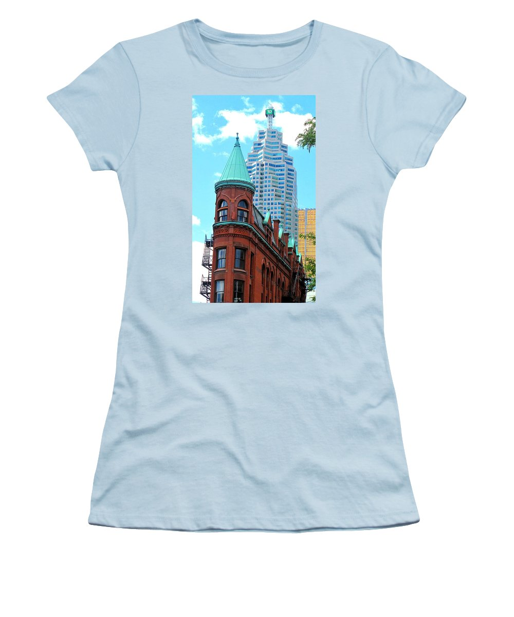 Flat Iron Building Women's T-Shirt (Athletic Fit) featuring the photograph Flat Iron Building by Ian MacDonald