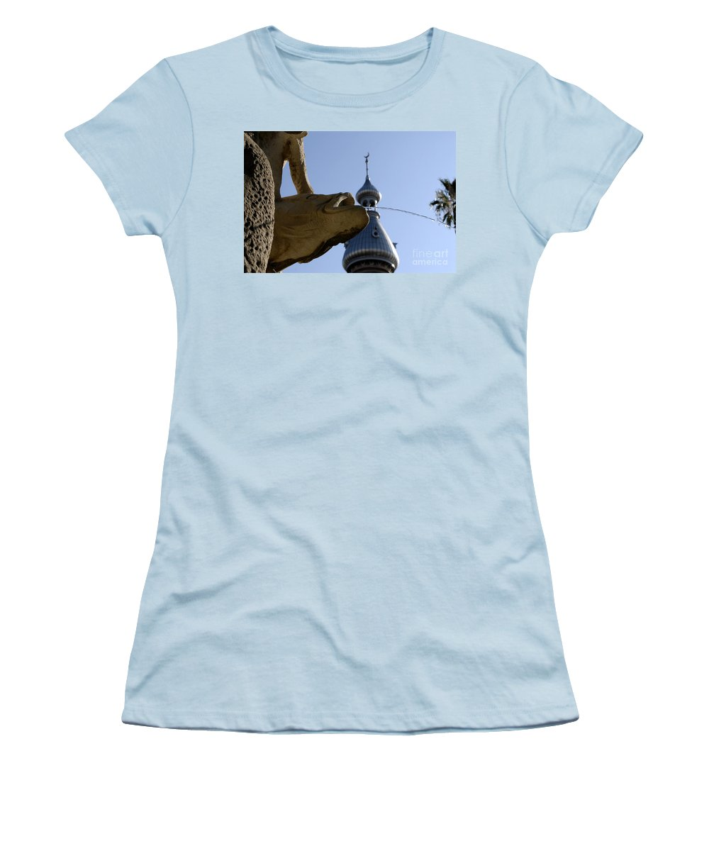 University Of Tampa Women's T-Shirt (Athletic Fit) featuring the photograph Fountain At Ut by David Lee Thompson