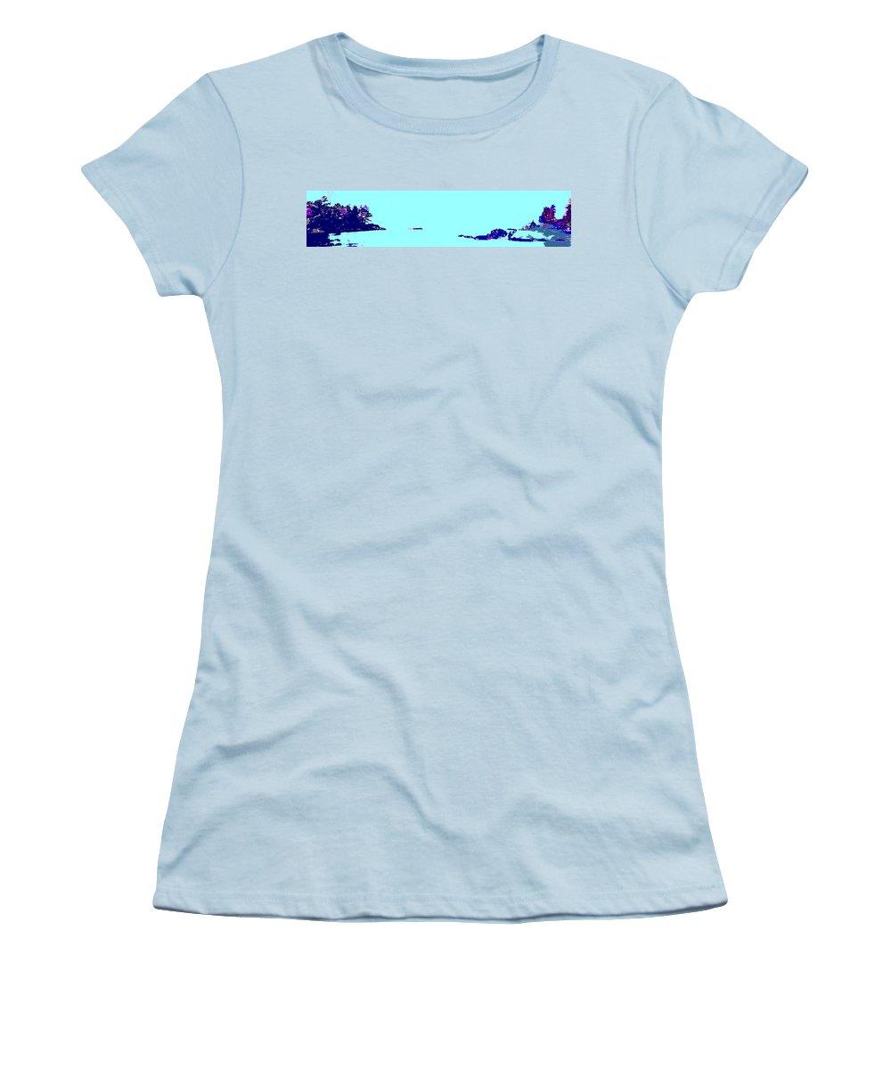 Women's T-Shirt (Athletic Fit) featuring the photograph Georgian Bay Blue by Ian MacDonald