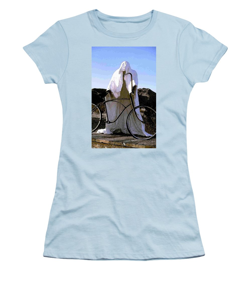 Ghost Women's T-Shirt (Athletic Fit) featuring the photograph Ghost Rider by Nelson Strong