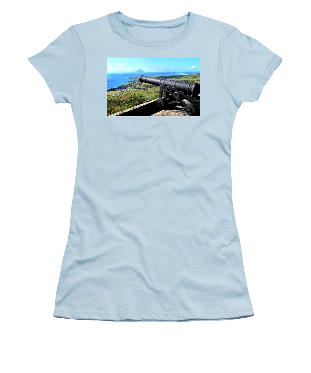 Brimstone Women's T-Shirt (Athletic Fit) featuring the photograph Guarding The Channel by Ian MacDonald