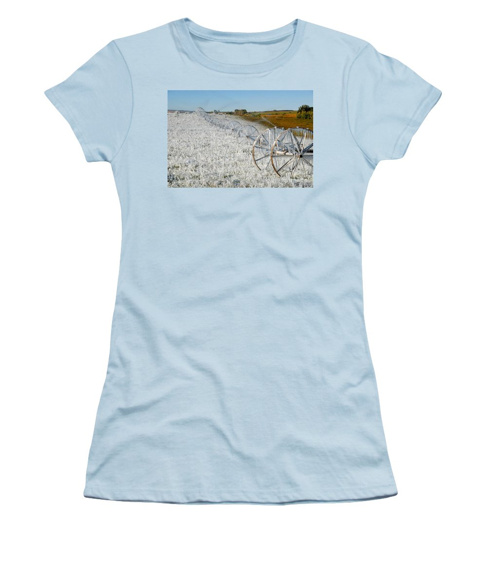 Farm Women's T-Shirt (Athletic Fit) featuring the photograph Hard Land Farming by David Lee Thompson