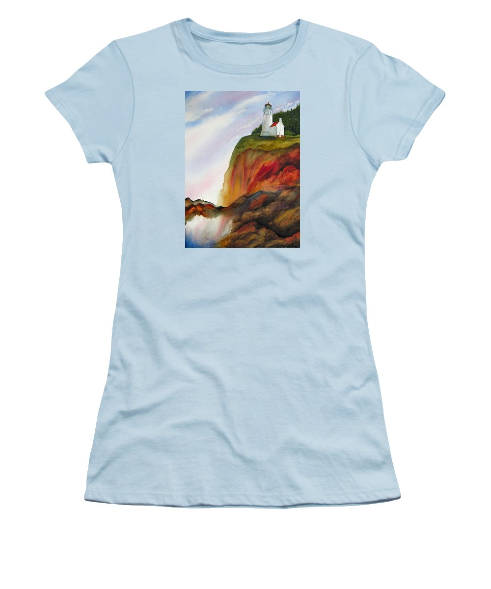 Coastal Women's T-Shirt (Athletic Fit) featuring the painting High Ground by Karen Stark