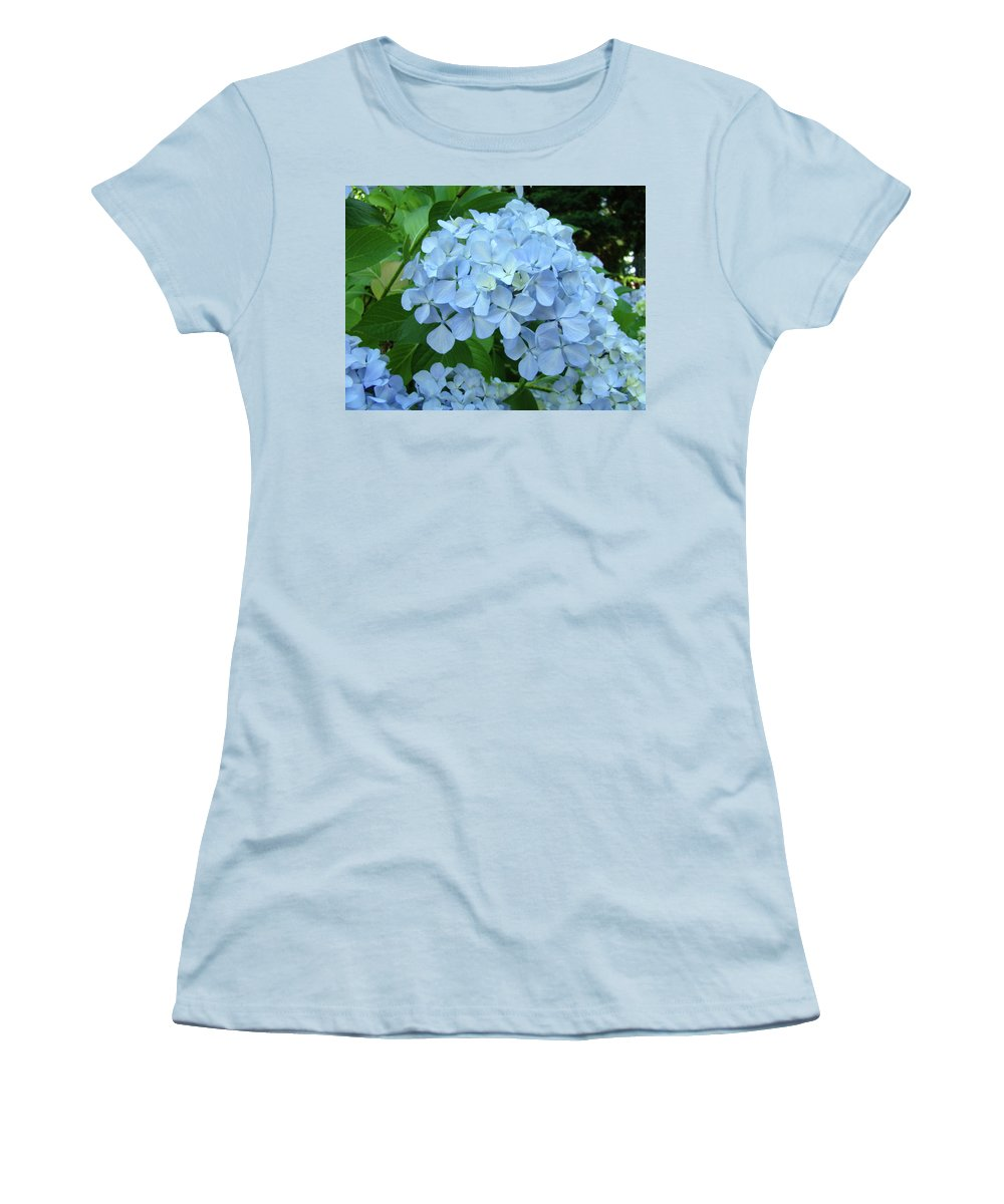 Landscape Women's T-Shirt (Athletic Fit) featuring the photograph Hydrangea Garden Art Prints Hydrangeas Flower Garden Baslee Troutman by Baslee Troutman
