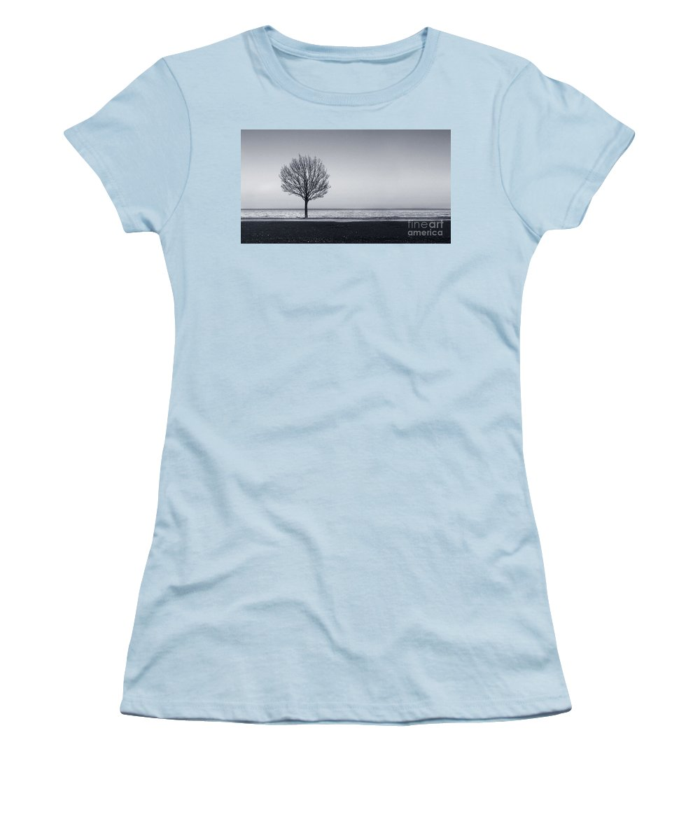 Tree Women's T-Shirt (Athletic Fit) featuring the photograph I Didnt Hear You Leaving by Dana DiPasquale
