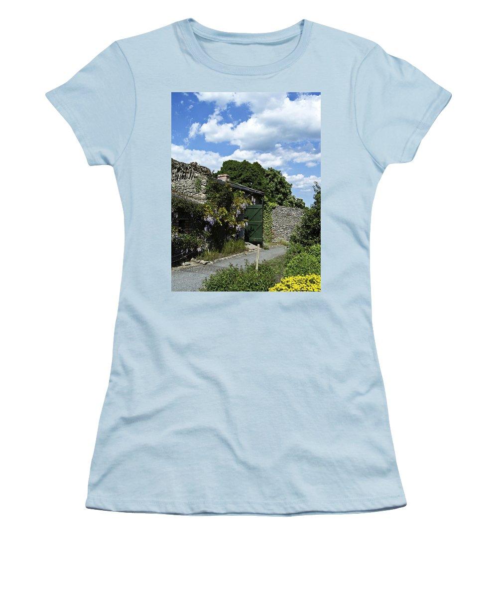 Irish Women's T-Shirt (Athletic Fit) featuring the photograph Irish Garden County Clare by Teresa Mucha