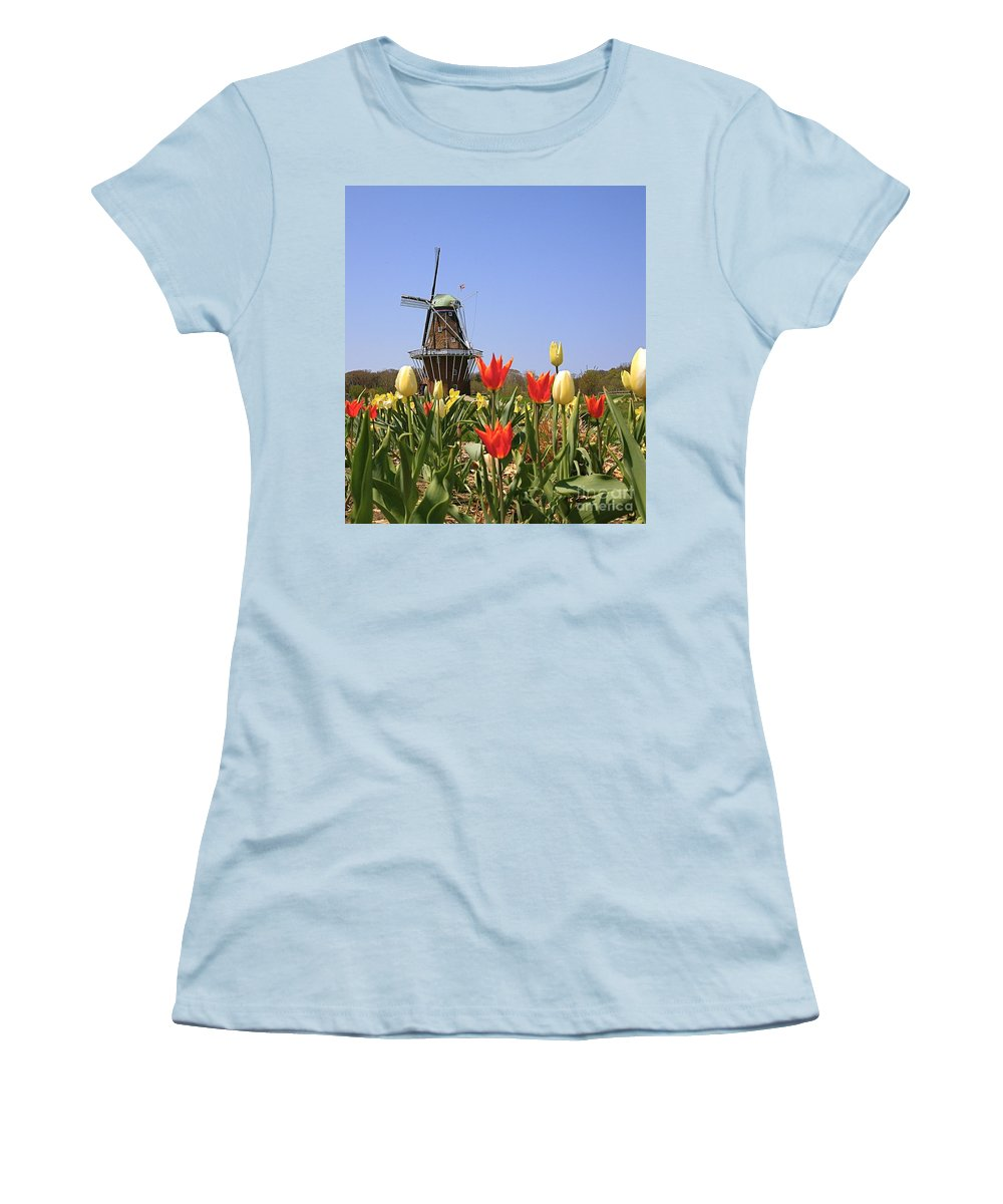 Tulips Women's T-Shirt (Athletic Fit) featuring the photograph Its Tulip Time by Robert Pearson