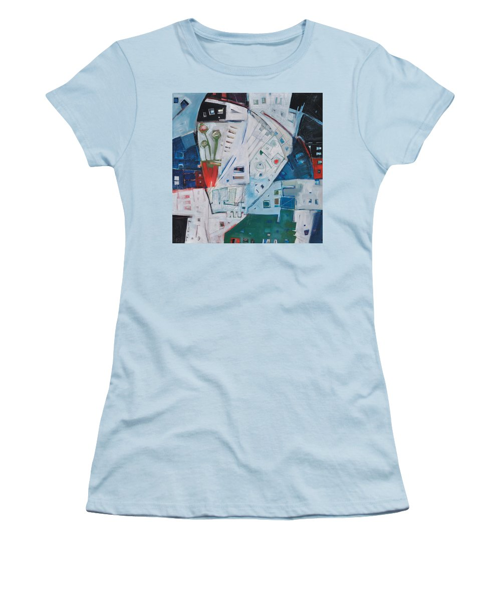 Jazz Women's T-Shirt (Athletic Fit) featuring the painting Jazz In Bloom by Tim Nyberg