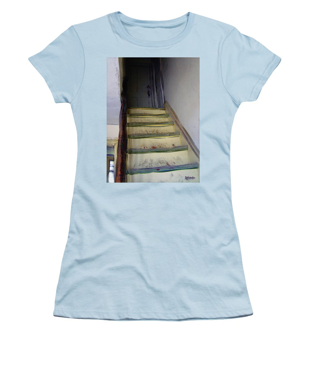 Antiquated Women's T-Shirt (Athletic Fit) featuring the digital art Just A Little Rickety by RC DeWinter