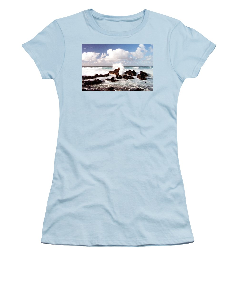 1986 Women's T-Shirt (Athletic Fit) featuring the photograph Keanae Peninsula by Will Borden