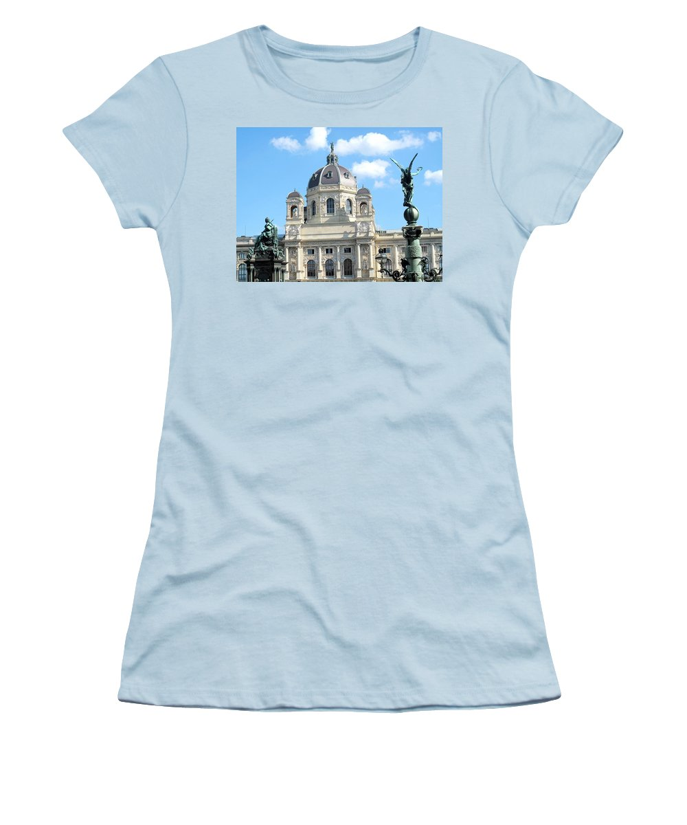 Vienna Women's T-Shirt (Athletic Fit) featuring the photograph Kunsthistoriches Museum Vienna by Ian MacDonald