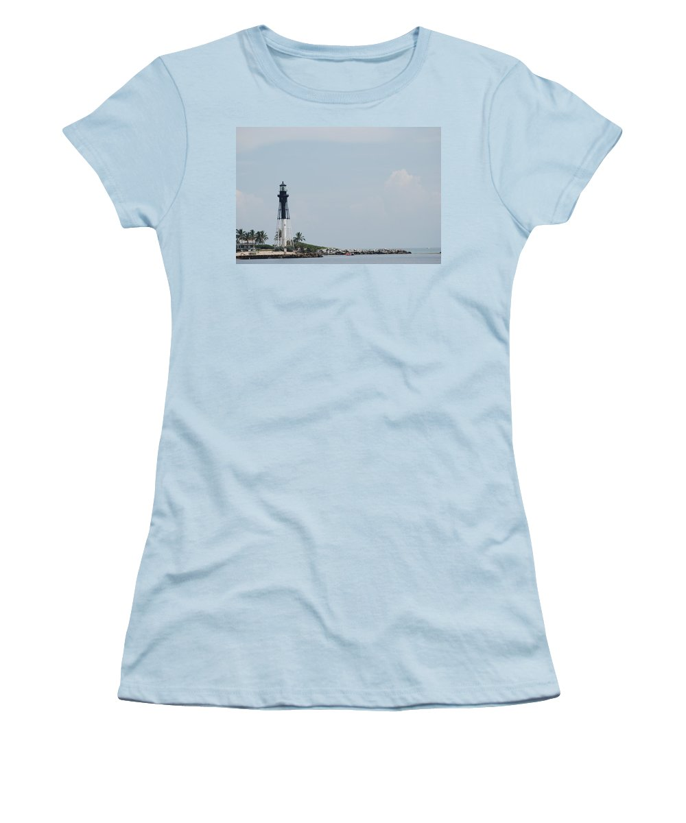 Light House Women's T-Shirt (Athletic Fit) featuring the photograph Light House Point by Rob Hans