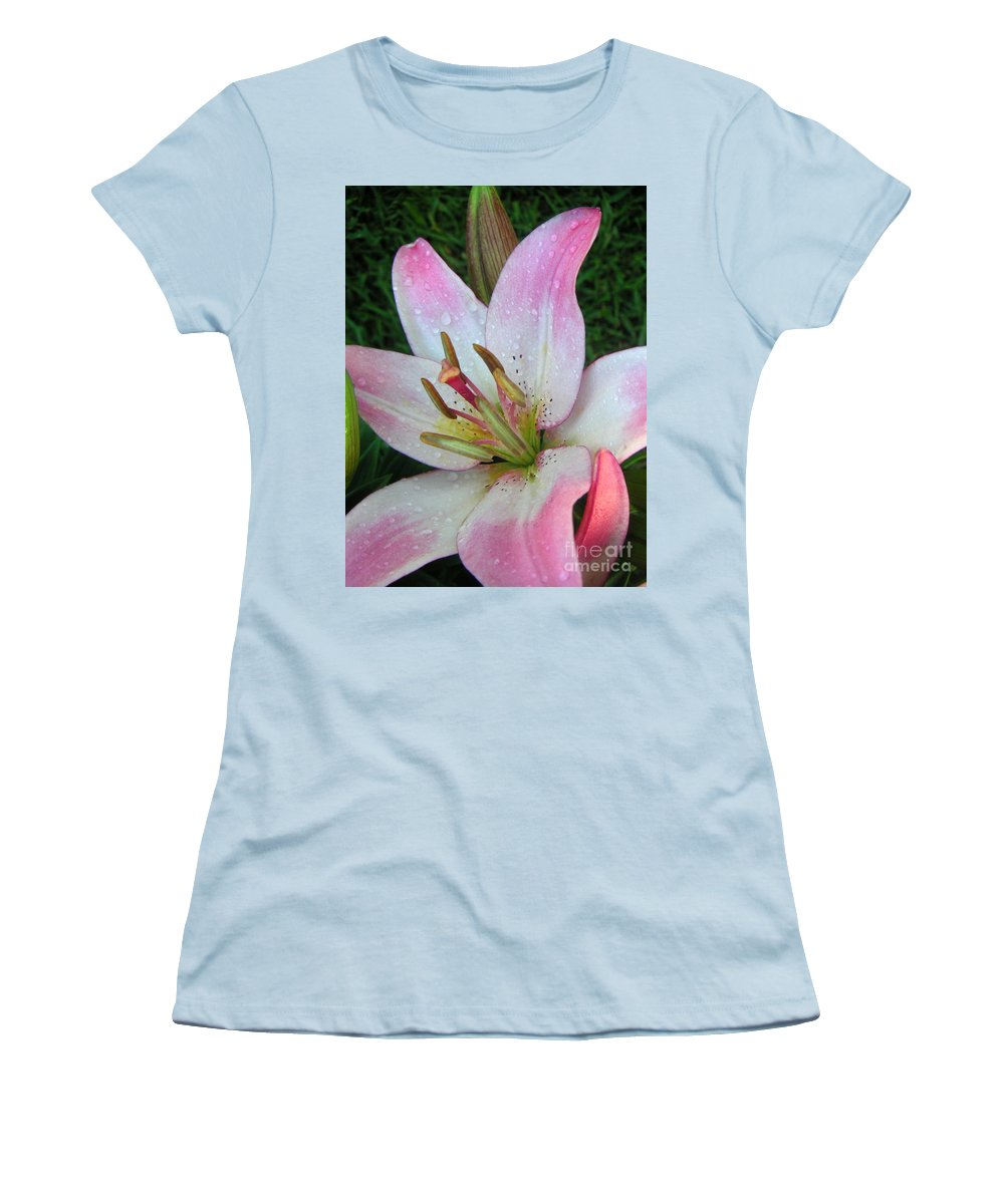 Nature Women's T-Shirt (Athletic Fit) featuring the photograph Lily Singled Out by Lucyna A M Green