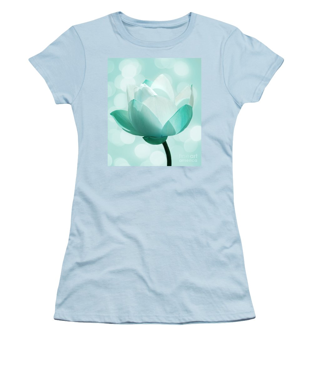Lotus Women's T-Shirt (Athletic Fit) featuring the photograph Mint by Jacky Gerritsen