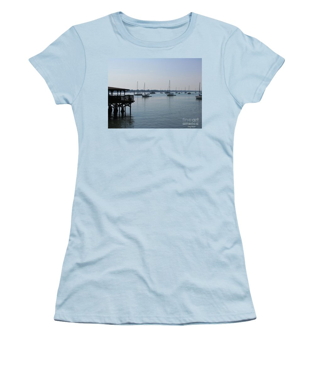 Art For The Wall...patzer Photography Women's T-Shirt (Athletic Fit) featuring the photograph No Wind by Greg Patzer