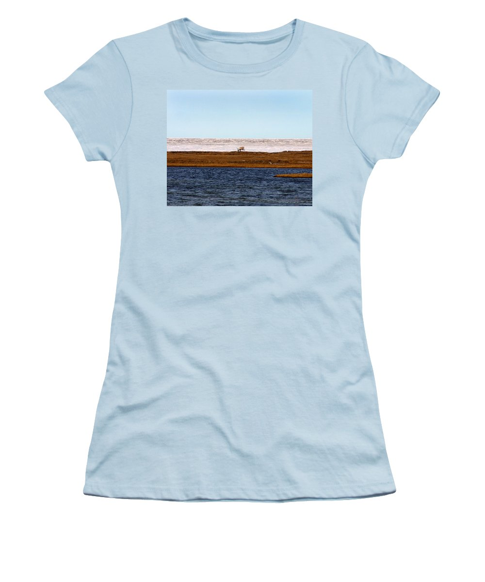 Arctic Women's T-Shirt (Athletic Fit) featuring the photograph North Slope by Anthony Jones