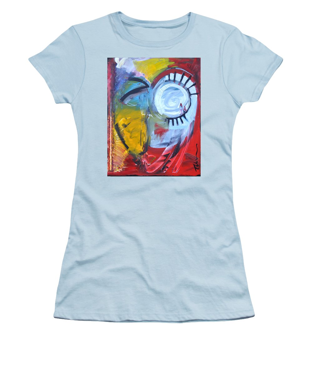 Jim Dine Women's T-Shirt (Athletic Fit) featuring the painting Ode To Jim Dine by Tim Nyberg