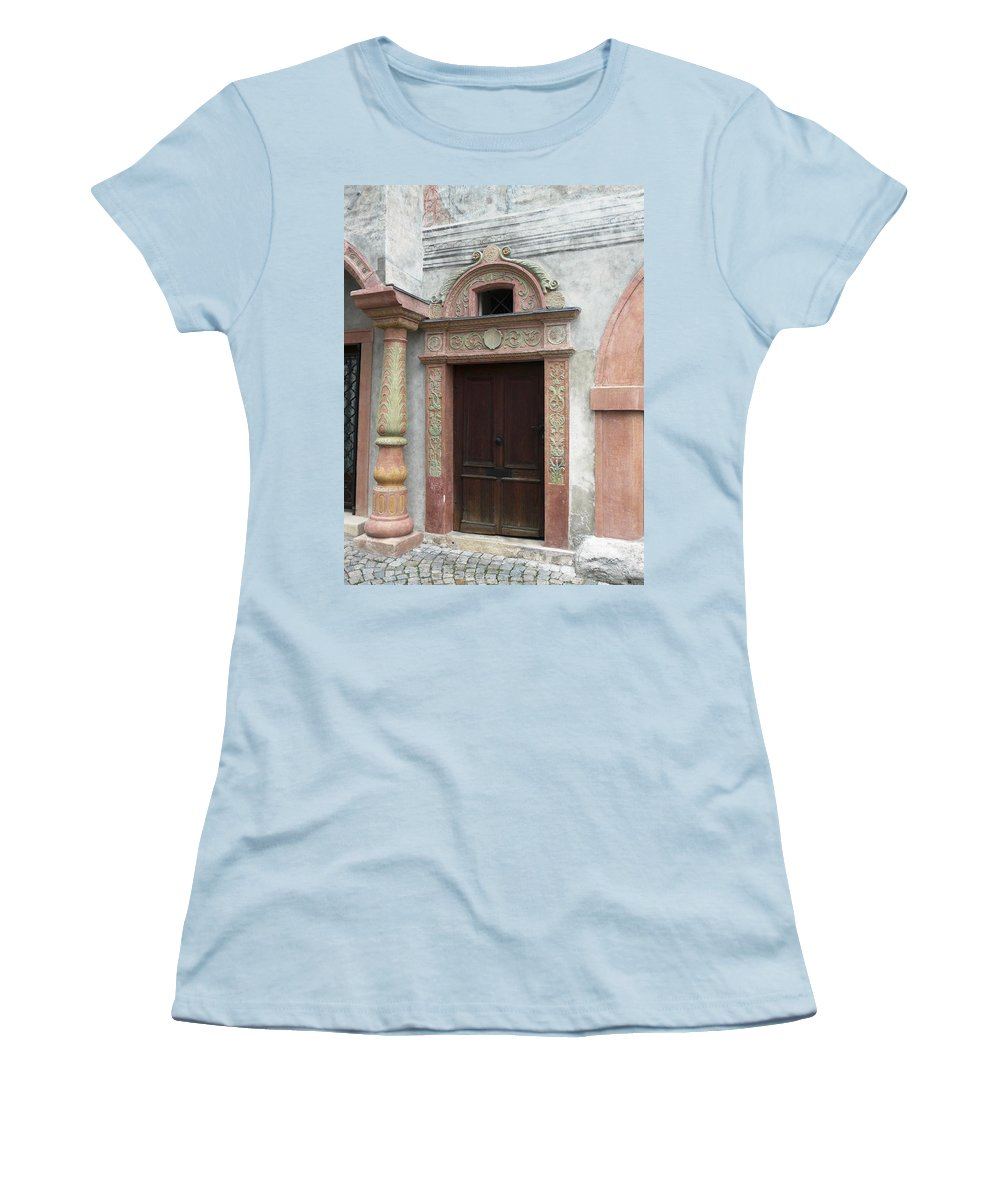 Old Women's T-Shirt (Athletic Fit) featuring the photograph Old Austrian Door by Valerie Ornstein