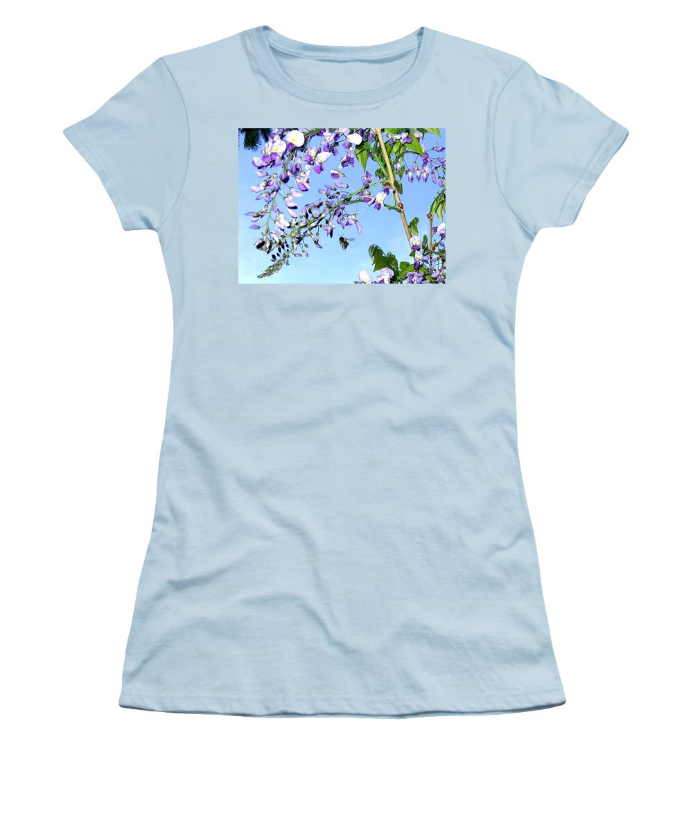 Honeybee Women's T-Shirt (Athletic Fit) featuring the photograph On The Wing by Will Borden