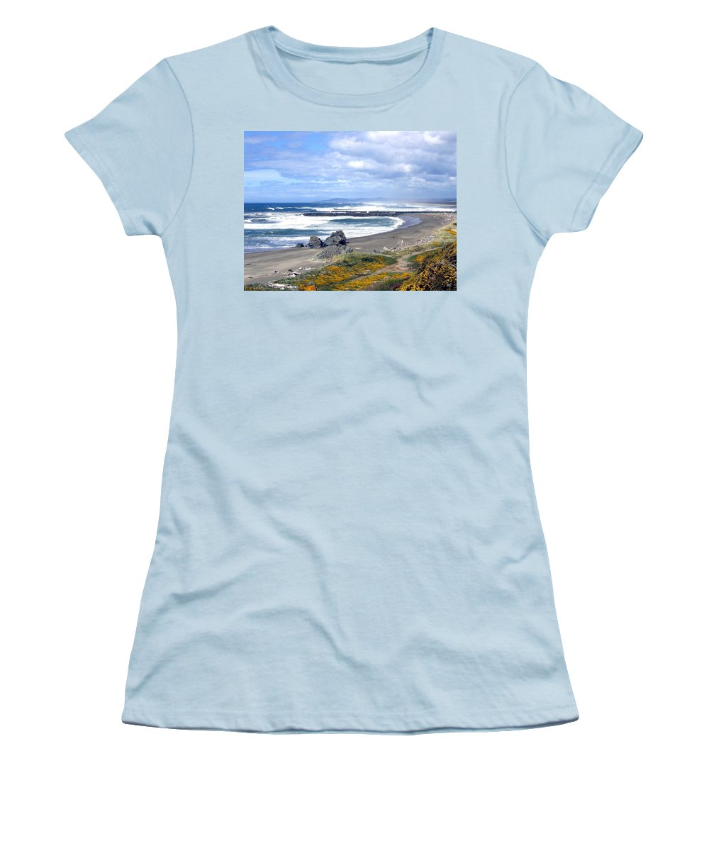 Bandon Women's T-Shirt (Athletic Fit) featuring the photograph Oregon Coast by Will Borden