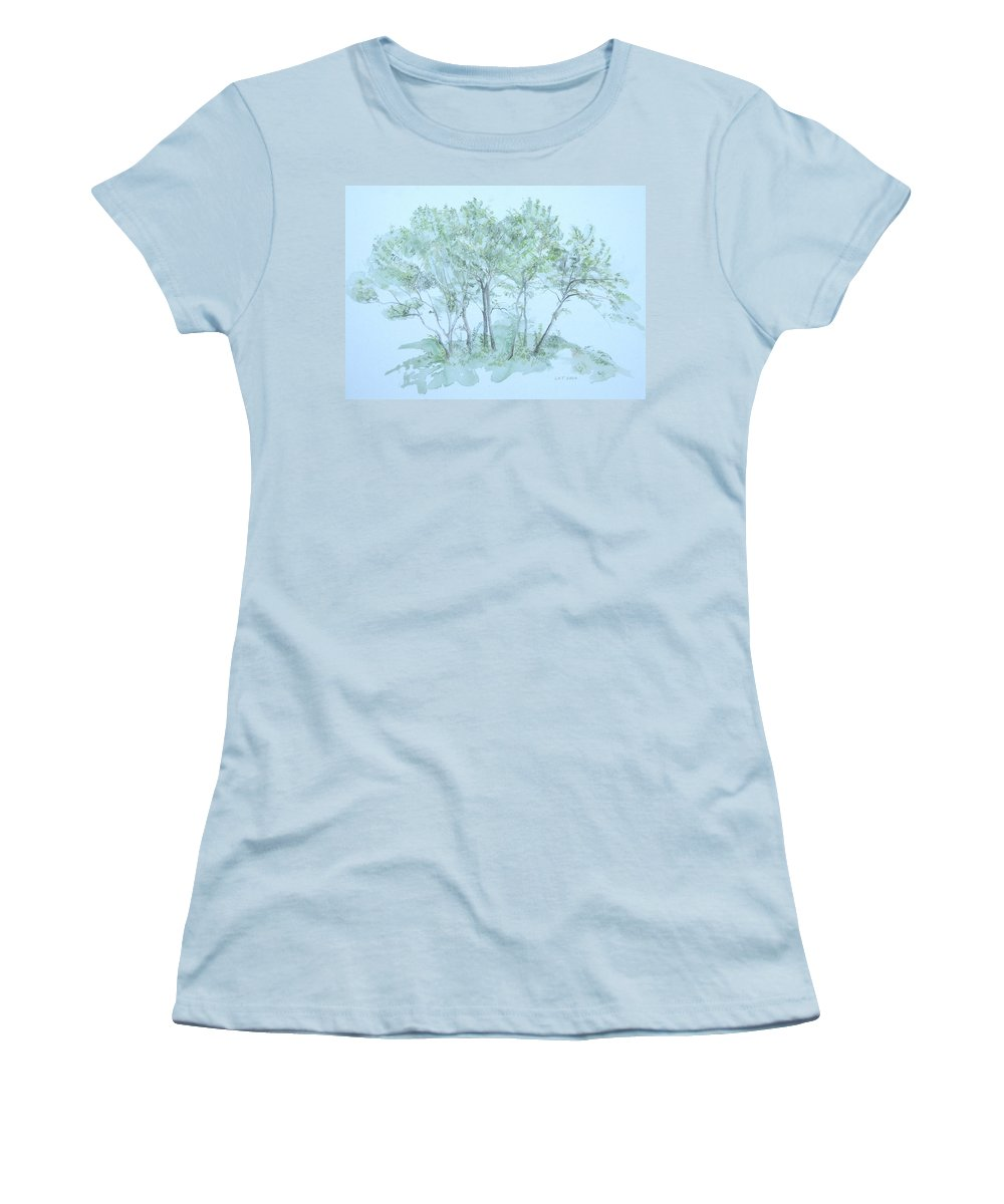 Trees Women's T-Shirt (Junior Cut) featuring the painting Outer Banks by Leah Tomaino