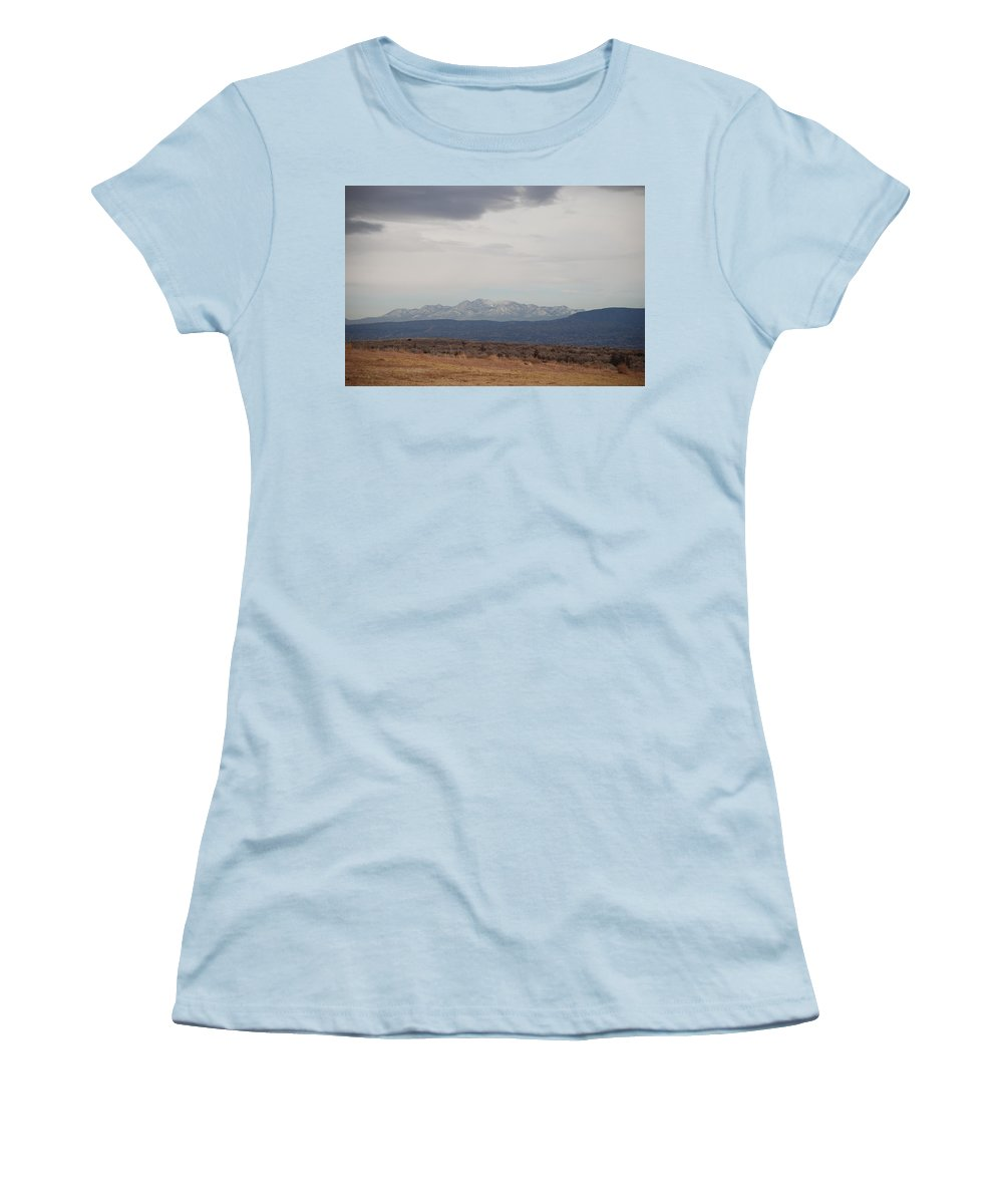 Mountains Women's T-Shirt (Athletic Fit) featuring the photograph Overcast On The Sandias by Rob Hans