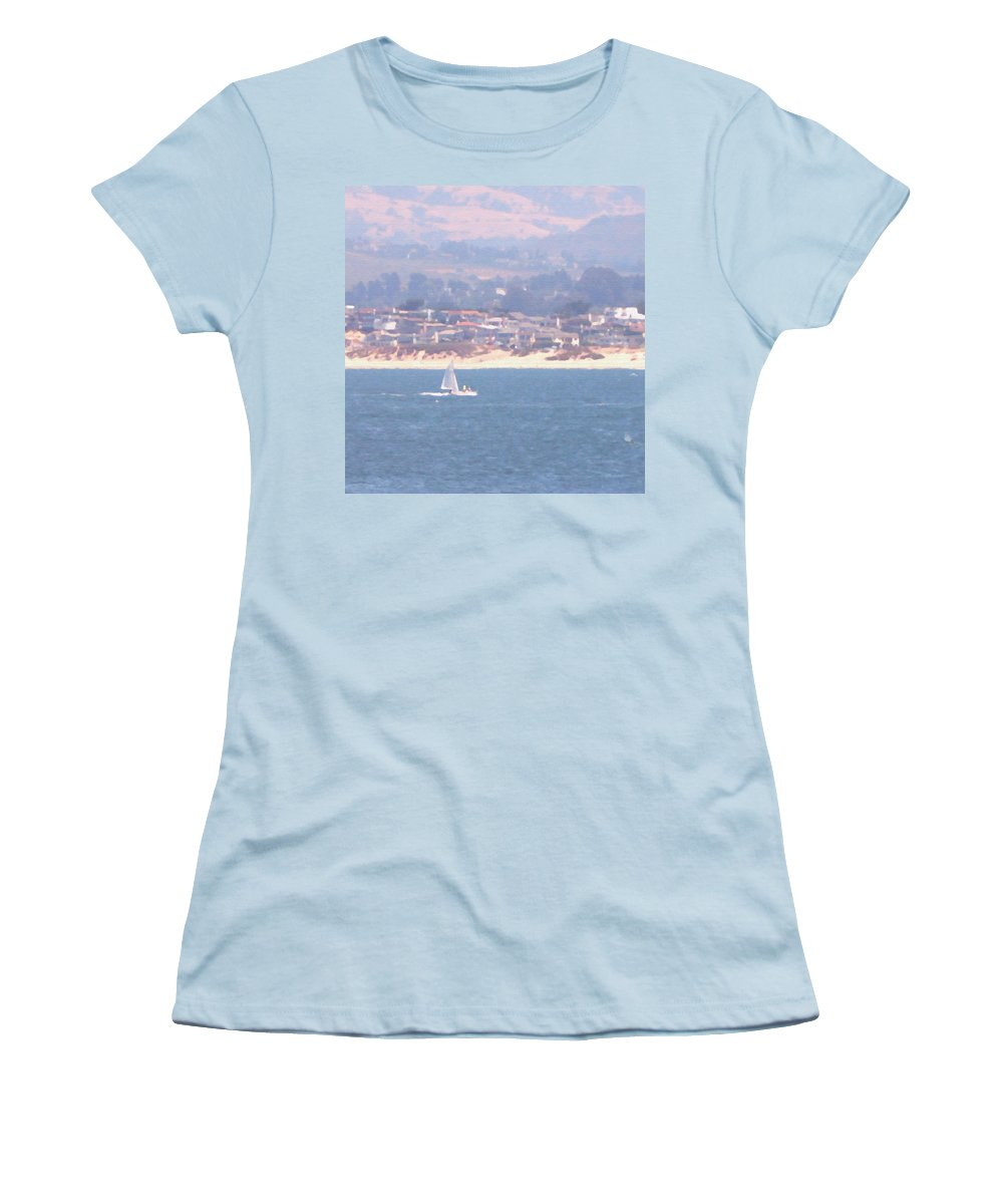 Sailing Women's T-Shirt (Athletic Fit) featuring the photograph Pastel Sail by Pharris Art