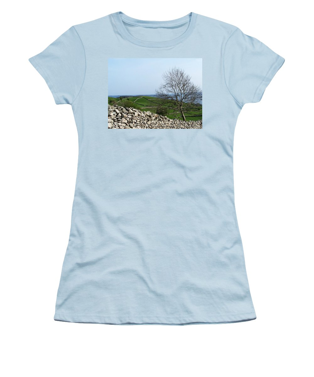 Irish Women's T-Shirt (Athletic Fit) featuring the photograph Patchwork Quilt Lough Corrib Maam Ireland by Teresa Mucha