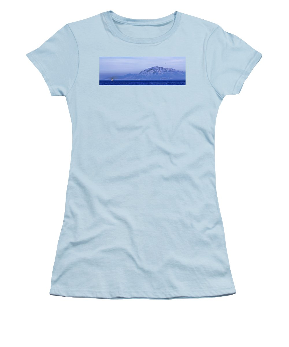Atlas Mountains Women's T-Shirt (Athletic Fit) featuring the photograph Pilars Of Hercules by Donovan Torres