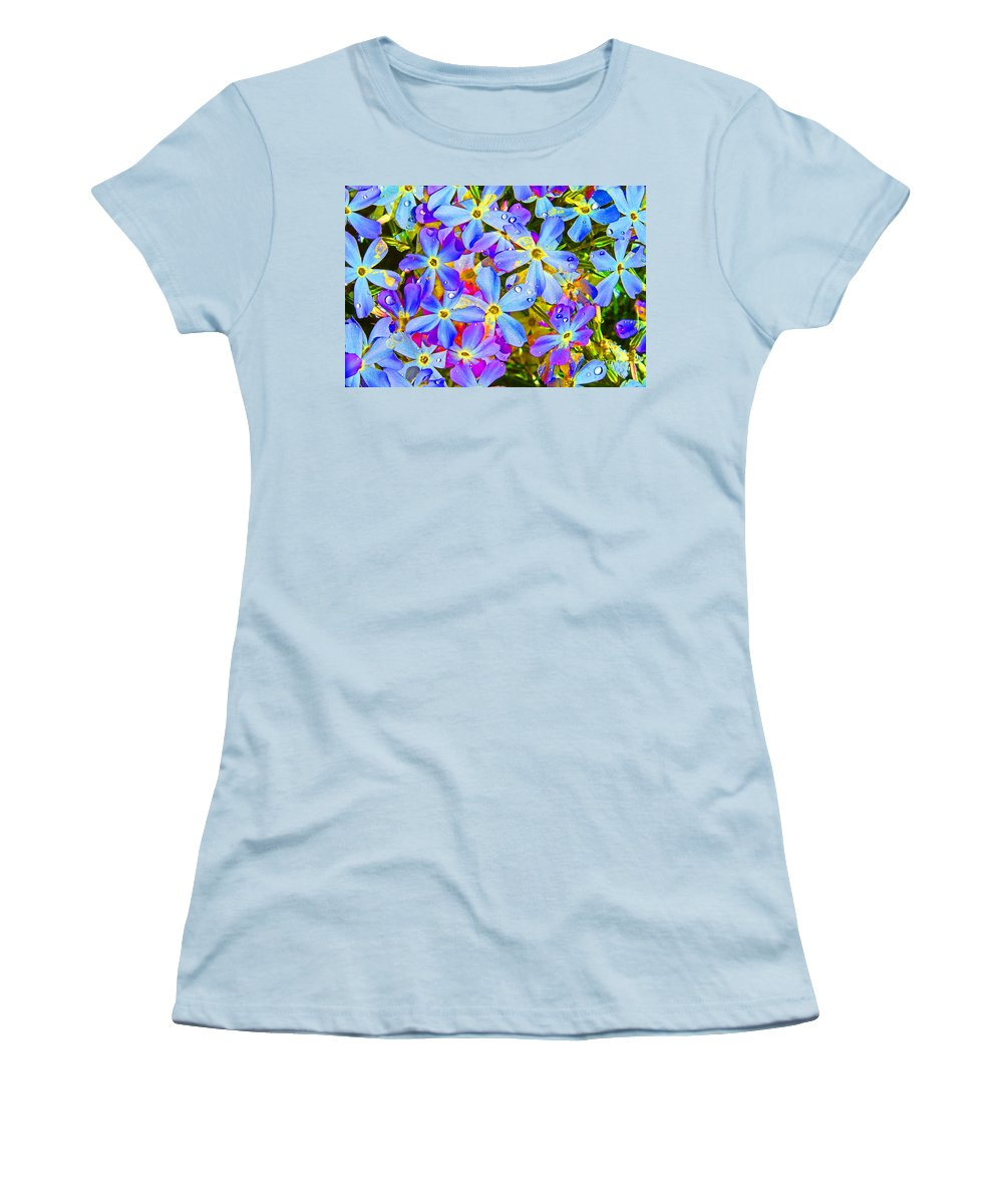 Wildflower Women's T-Shirt (Athletic Fit) featuring the photograph Pincushion Flower by Heather Coen
