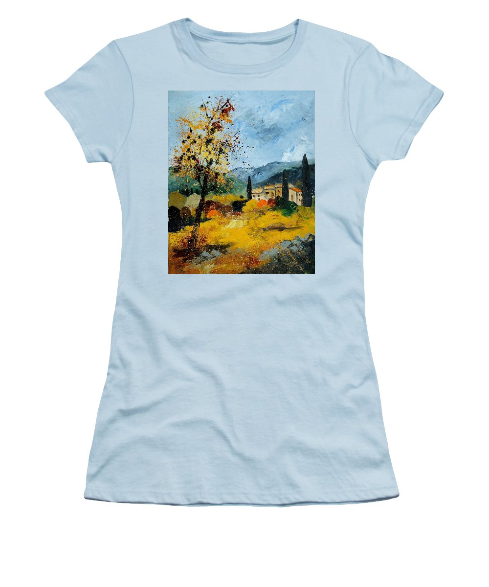 Provence Women's T-Shirt (Athletic Fit) featuring the painting Provence 45 by Pol Ledent