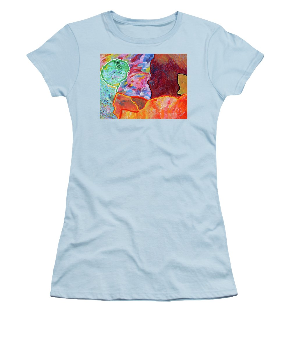 Fusionart Women's T-Shirt (Athletic Fit) featuring the painting Puzzle by Ralph White