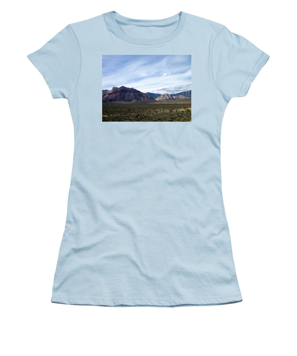 Red Rock Canyon Women's T-Shirt (Athletic Fit) featuring the photograph Red Rock Canyon 4 by Anita Burgermeister