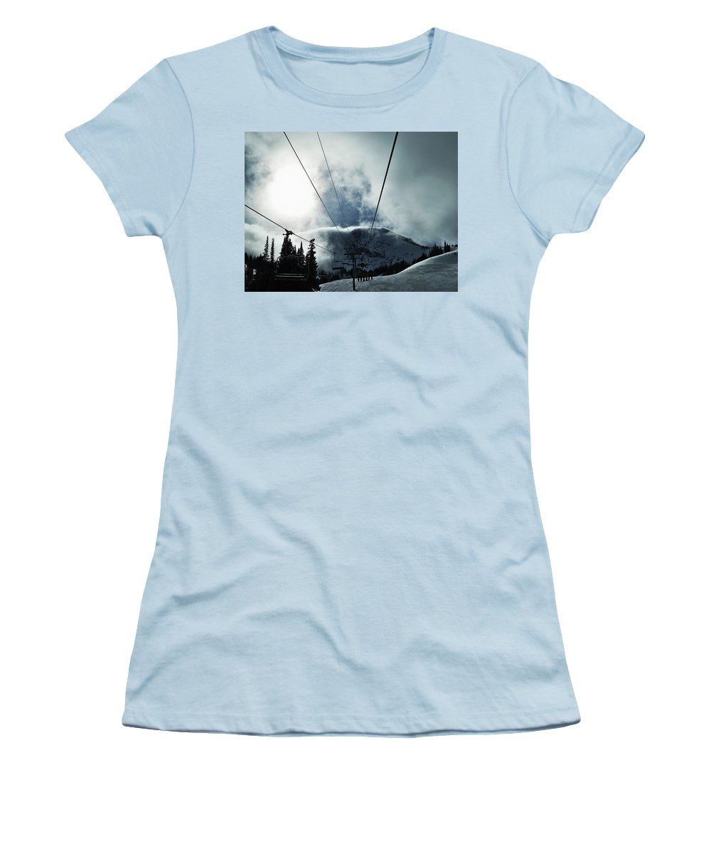 Landscape Women's T-Shirt (Athletic Fit) featuring the photograph Rise To The Sun by Michael Cuozzo