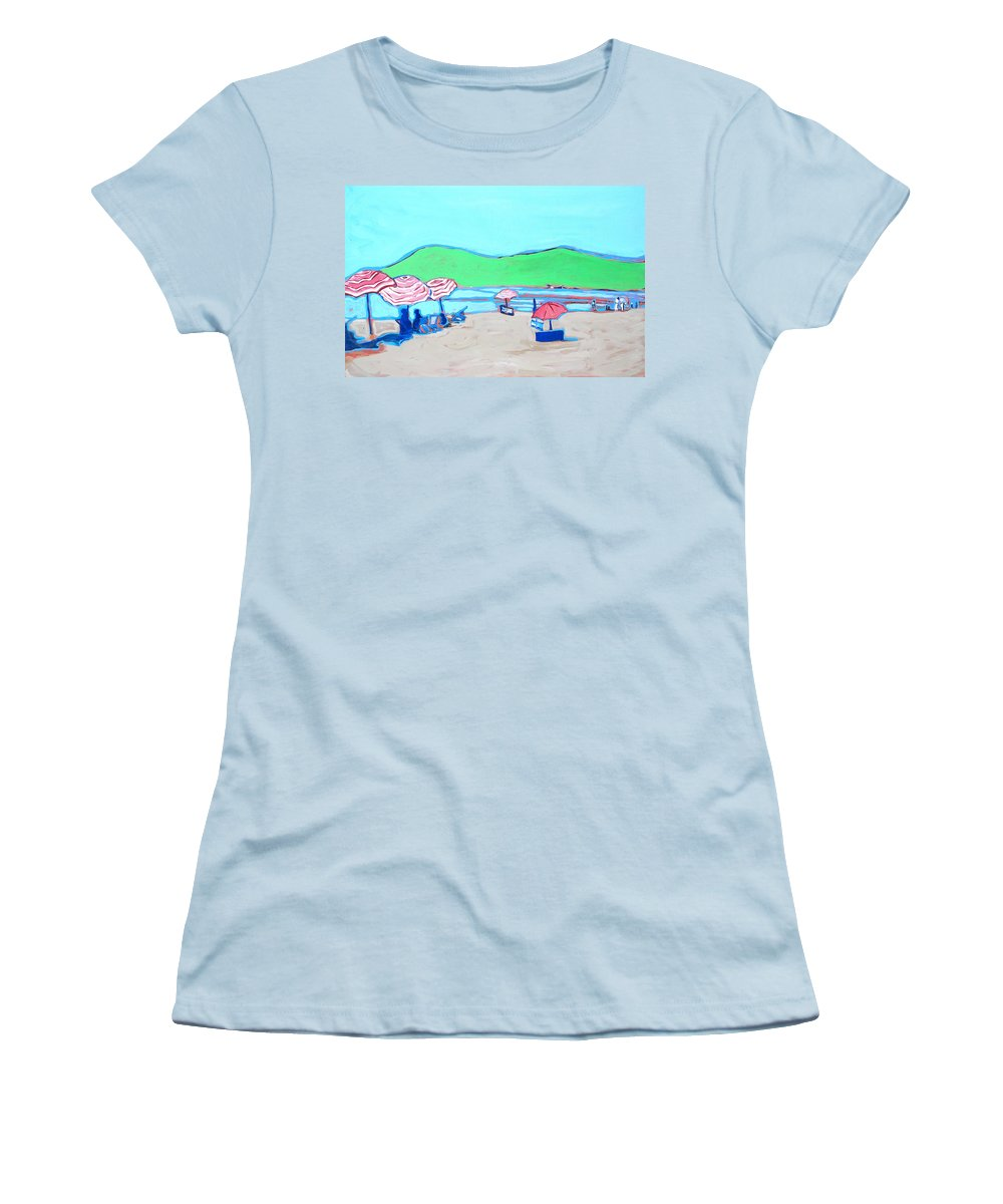 Seashore Women's T-Shirt (Athletic Fit) featuring the painting Riviera by Kurt Hausmann