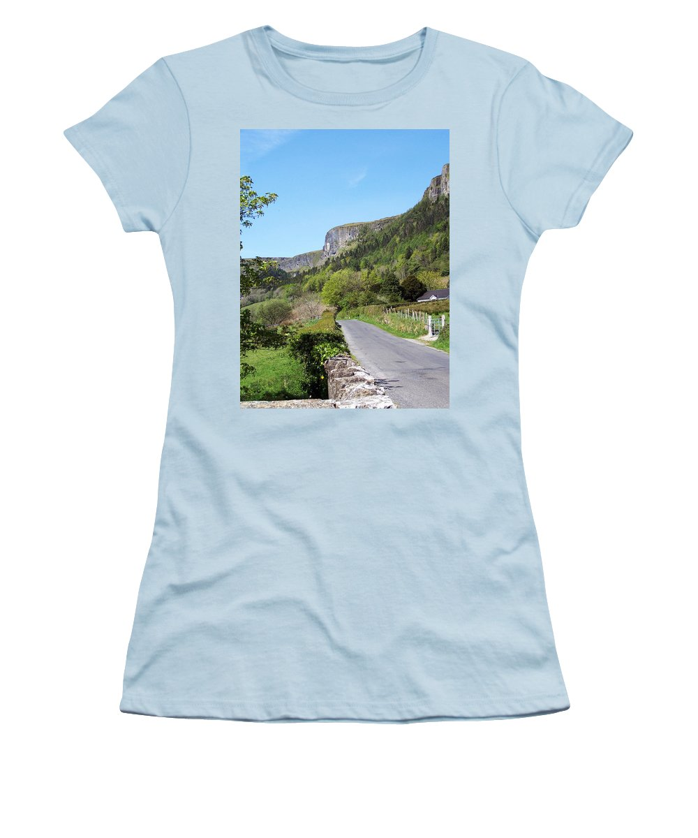 Irish Women's T-Shirt (Athletic Fit) featuring the photograph Road To Benbulben County Leitrim Ireland by Teresa Mucha