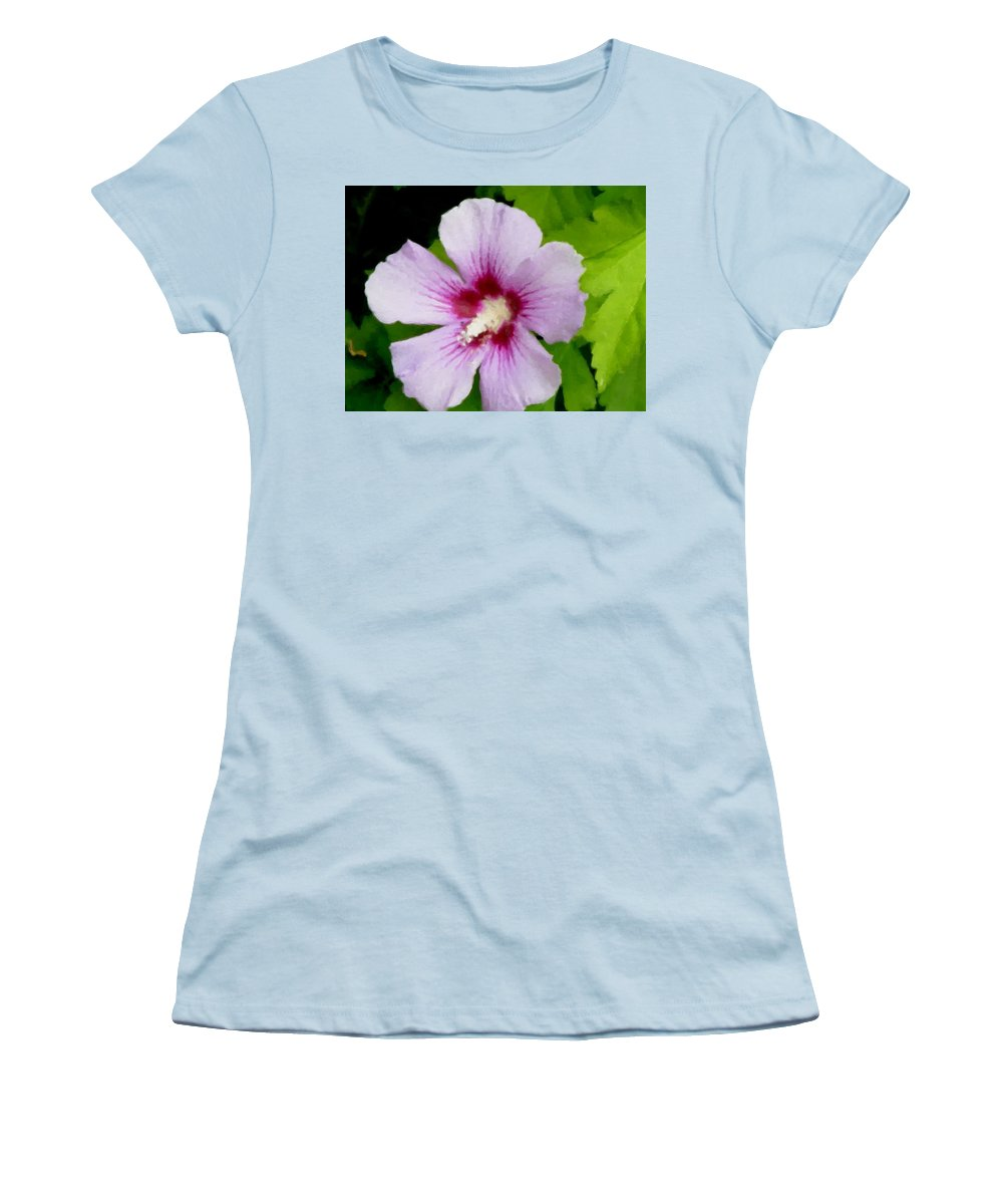 Flower Women's T-Shirt (Athletic Fit) featuring the digital art Rose Of Sharon Close Up by Anita Burgermeister