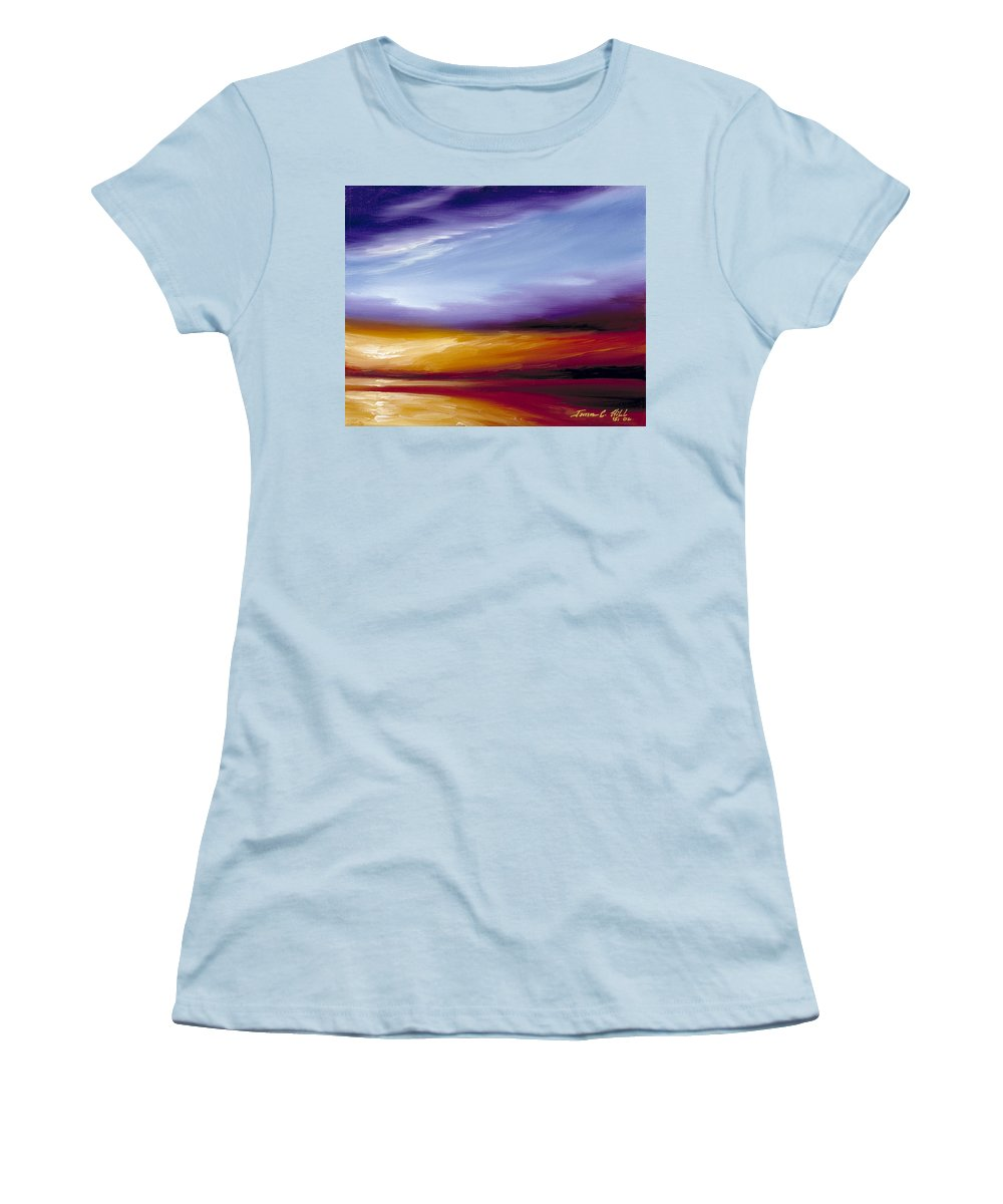 Skyscape Women's T-Shirt (Athletic Fit) featuring the painting Sarasota Bay II by James Christopher Hill