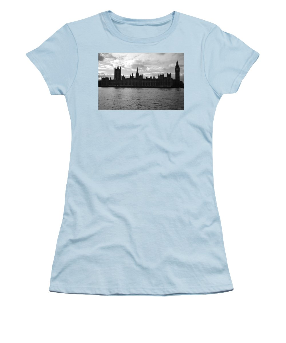 London Women's T-Shirt (Athletic Fit) featuring the photograph Shadows Of Parliament by J Todd