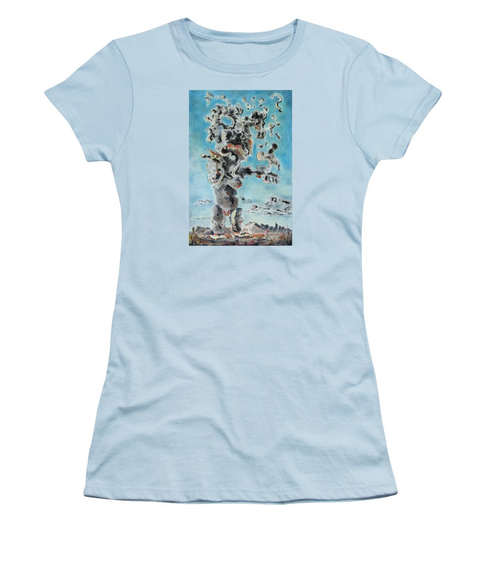 Surreal Women's T-Shirt (Athletic Fit) featuring the painting Spectre by Dave Martsolf