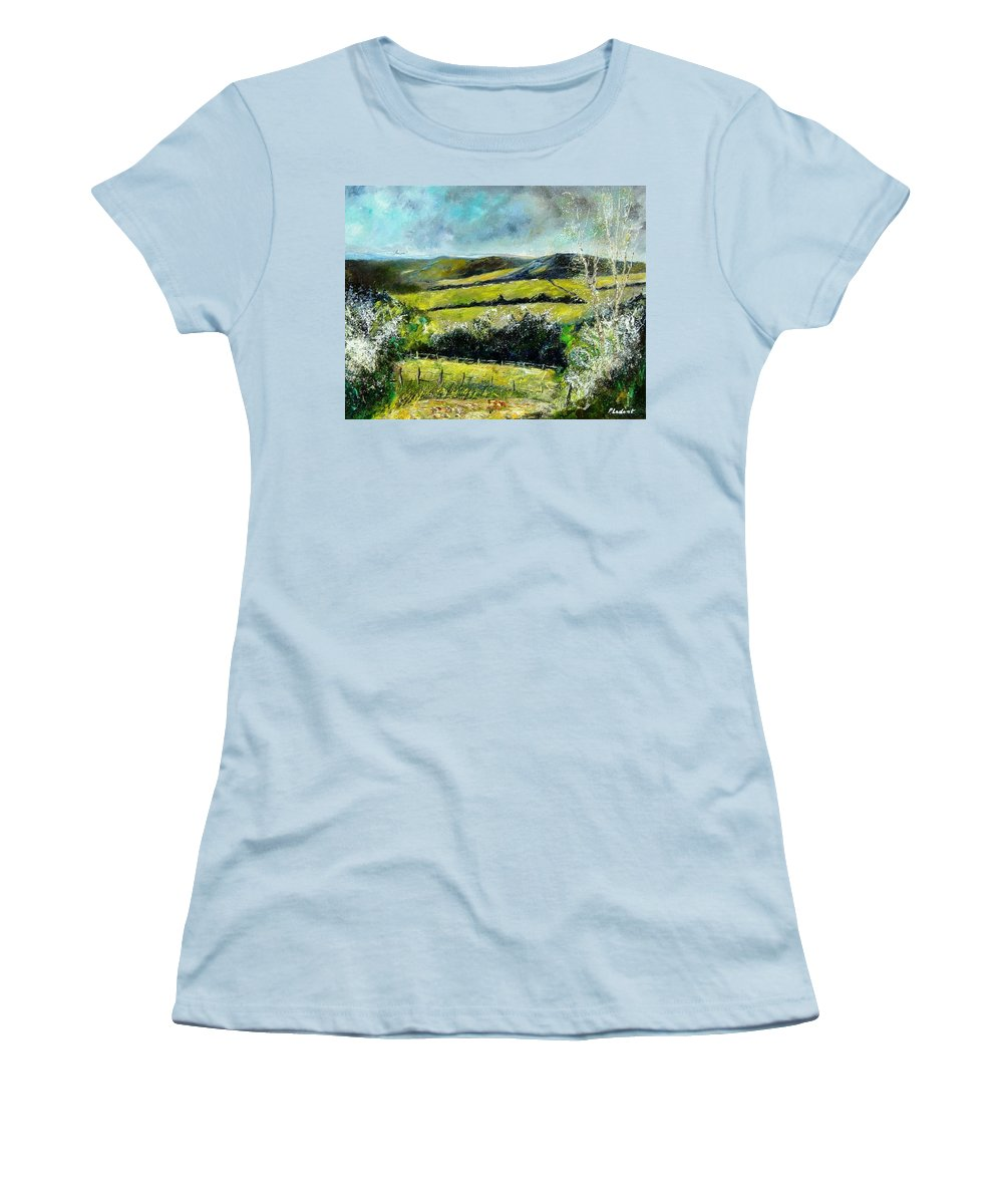 Landscape Women's T-Shirt (Athletic Fit) featuring the print Spring 79 by Pol Ledent