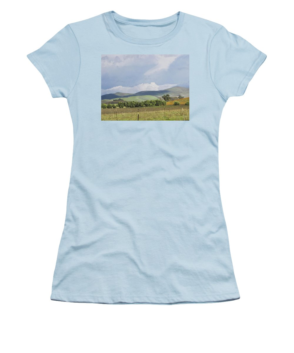 Landscape Women's T-Shirt (Athletic Fit) featuring the photograph Spring In Livermore by Karen W Meyer