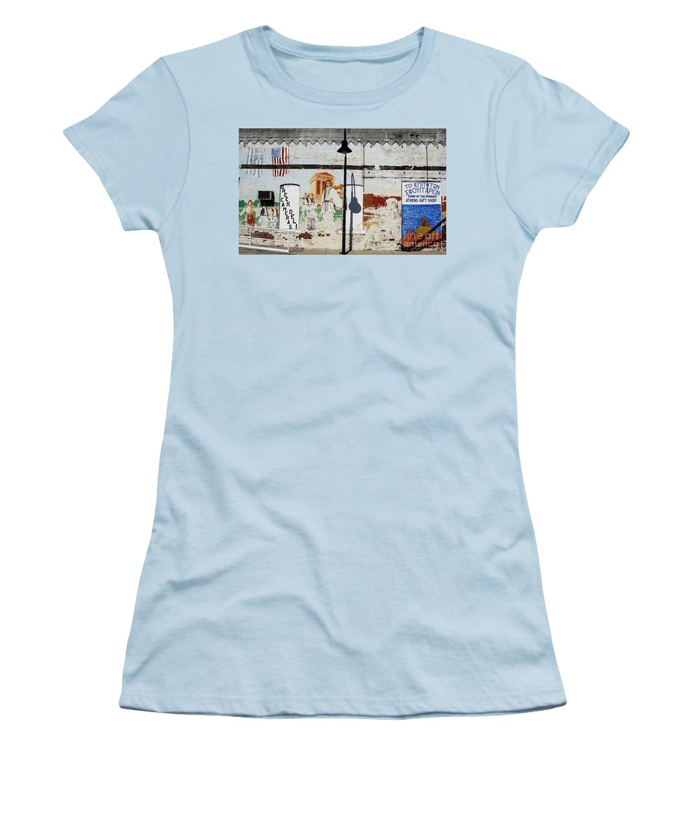Greek Women's T-Shirt (Athletic Fit) featuring the photograph Tarpon Springs by David Lee Thompson