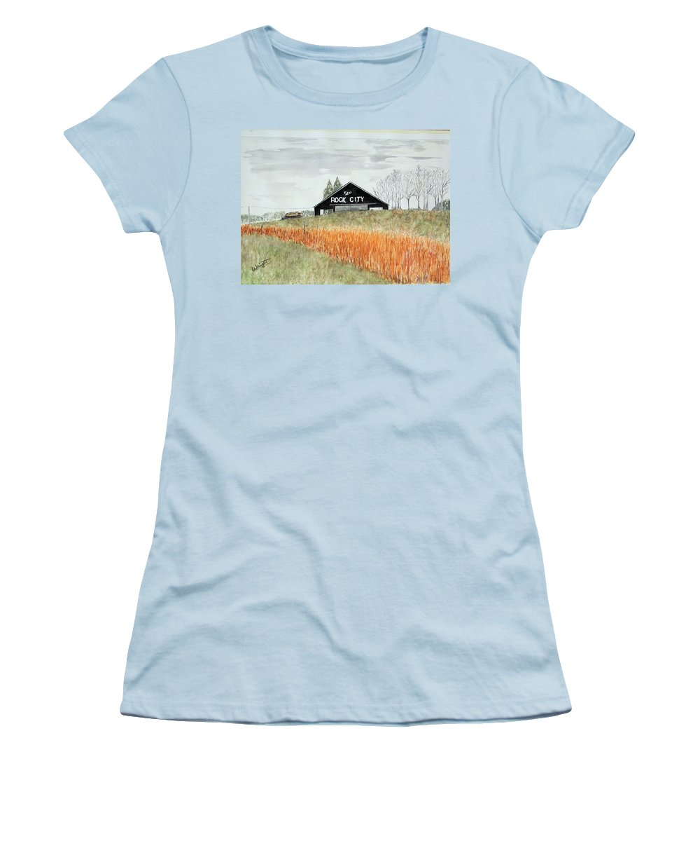 Barns Women's T-Shirt (Athletic Fit) featuring the painting Tennessee Destination by Larry Wright