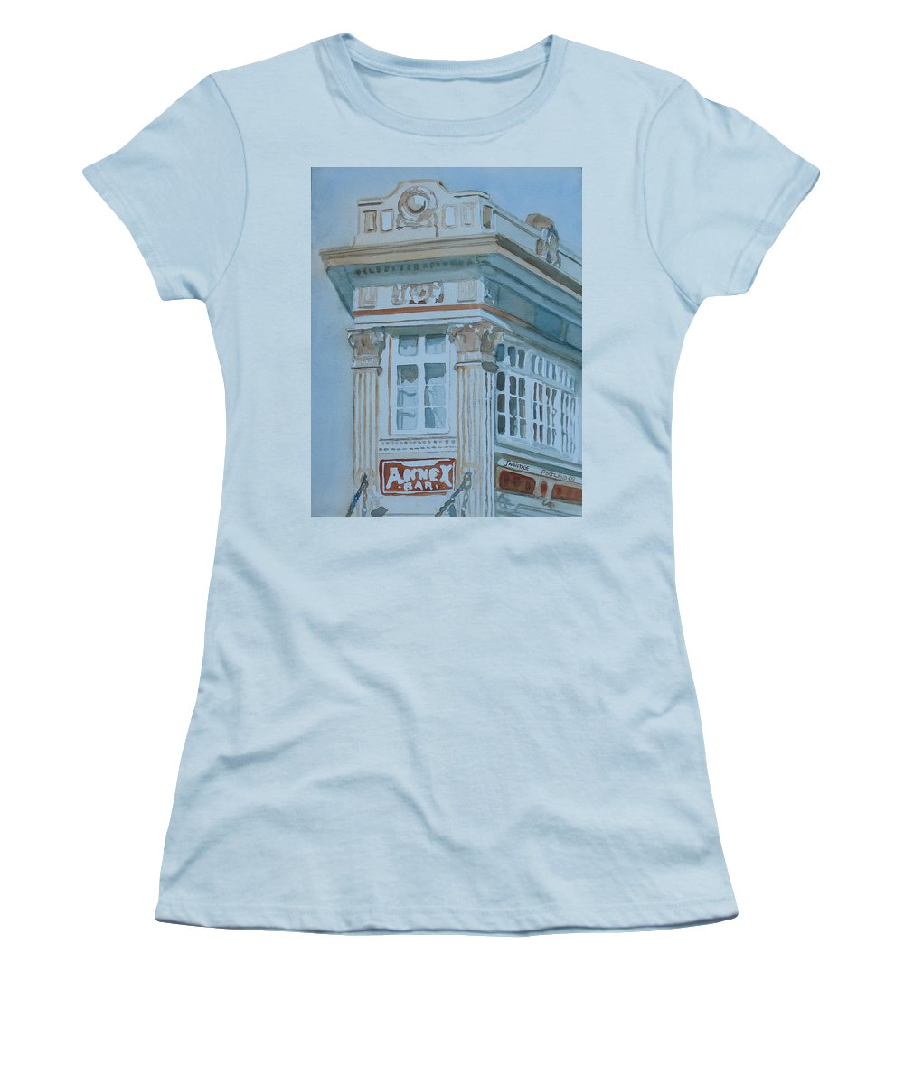 Bar Women's T-Shirt (Athletic Fit) featuring the painting The Annex Bar by Jenny Armitage