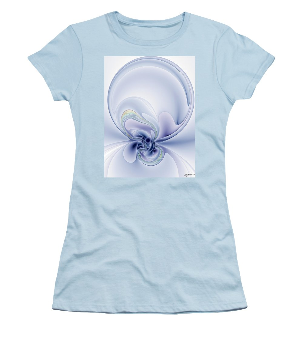 Abstract Women's T-Shirt (Athletic Fit) featuring the digital art The Liquidity Of Thought by Casey Kotas