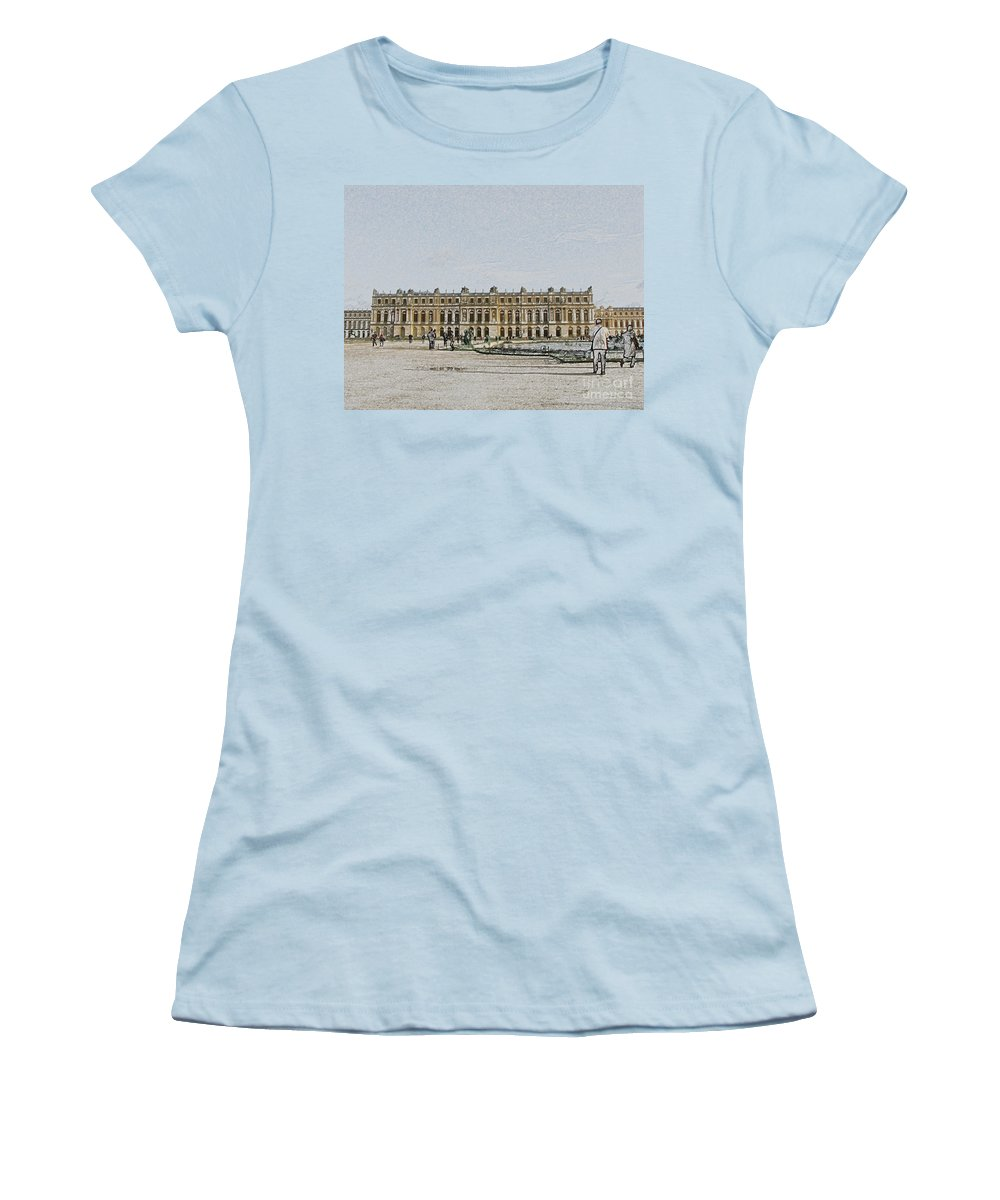 Palace Women's T-Shirt (Athletic Fit) featuring the photograph The Palace Of Versailles by Amanda Barcon