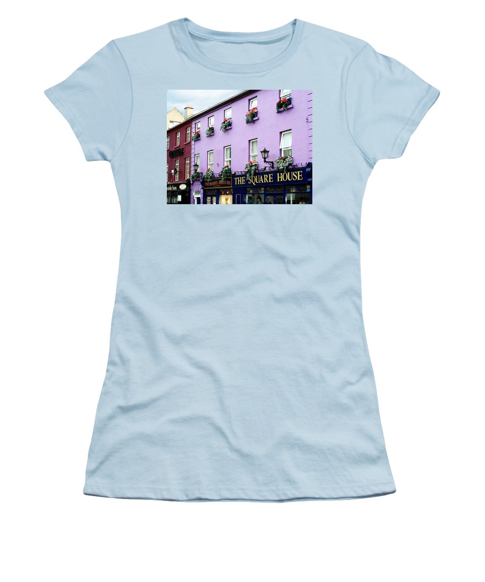 Irish Women's T-Shirt (Athletic Fit) featuring the photograph The Square House Athlone Ireland by Teresa Mucha