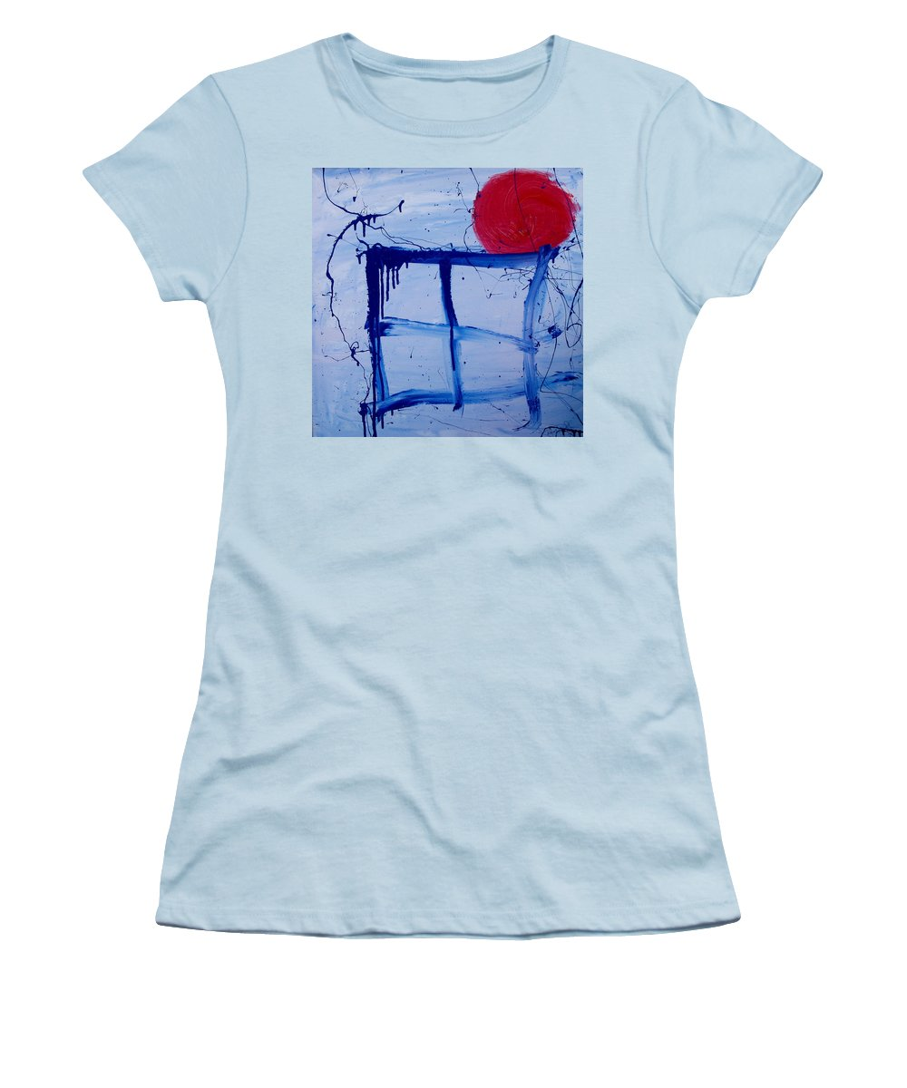 Sun Women's T-Shirt (Athletic Fit) featuring the painting The Sun Through My Window by Wayne Potrafka
