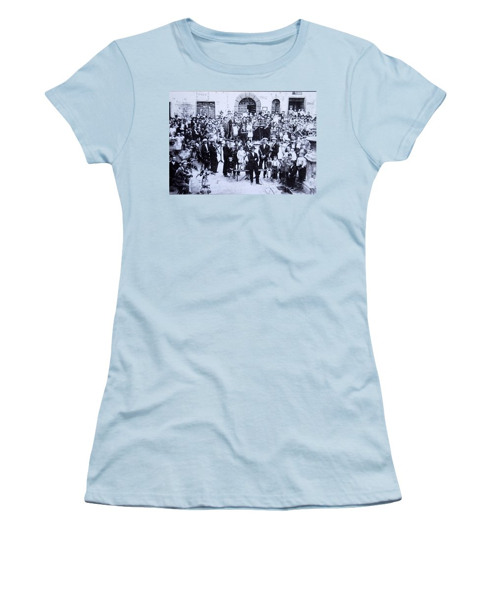 Tuscany Women's T-Shirt (Athletic Fit) featuring the photograph The Village Band by Kurt Hausmann